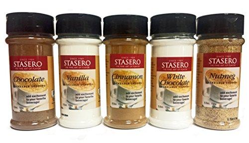 Stasero Toppings Sampler, Chocolate, Vanilla, Cinnamon, White Chocolate & ()