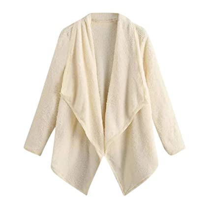 Amazon.com: Missshy Womens Warm Wool Cotton Coat Cardigan ...