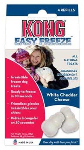 KONG Easy Freeze White Cheddar Refills Frozen Dog Treats, 4-Refills, My Pet Supplies
