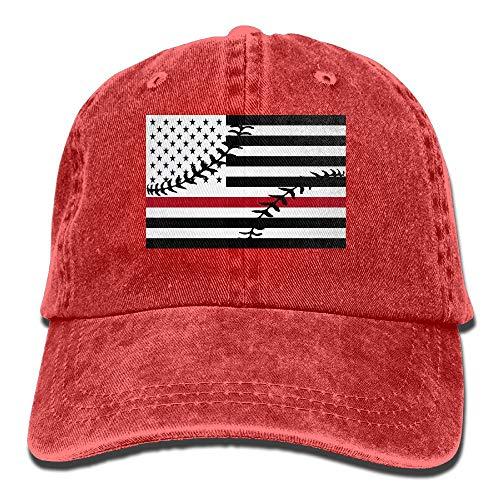 WANING MOON Baseball American Flag Cowboy Hat Adjustable Baseball Cap Sunhatcap Peaked Cap