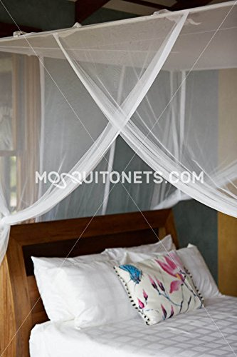 Mosquito NET Bed Canopy | Queen Size Bed Net | Easy Care Machine Washable Mosquito Netting | Secure Insect Protection with The Designer Mosquito net by MosquitoNets (Image #4)