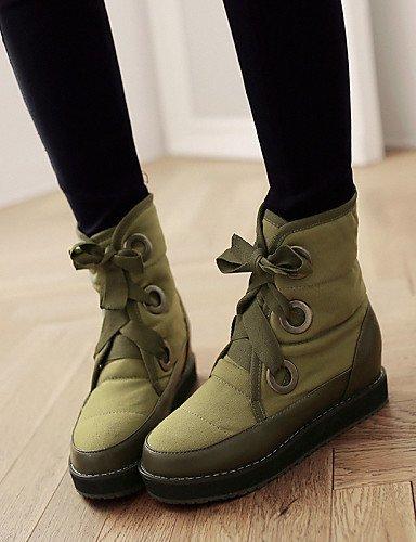 Zapatos us10 5 De Eu39 Uk8 5 Nieve Eu42 Uk6 Tejido Punta Botas Mujer Cn43 Vestido Plataforma Casual Black Cn39 Negro Redonda Xzz Green us8 qAwx6Odq