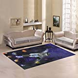 JC-Dress Area Rug Solar System Modern Carpet 7'x5'
