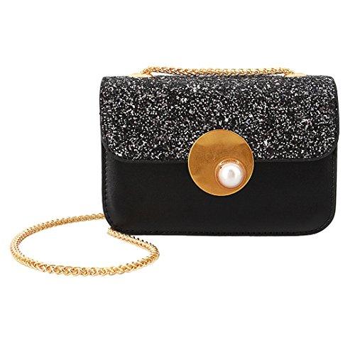 Handbag Womens Evening 00400 Sequin Party Wedding Clutch Black Gabrine Shoulder Crossbody Bag Bag Purse for Dailywear 0wCUdUx