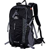 Topsky Outdoor Sports Waterproof Camping Hiking Internal Frame Backpack 40L 50L Unisex Lightweight Travel Daypacks with Rain Cover (Black, 40L) For Sale