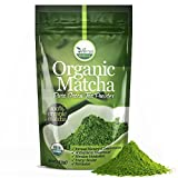 4 Pack uVernal WellBeing Organic Matcha Green Tea Powder - 100% Pure Matcha (No Sugar Added - Unsweetened Pure Green Tea - No Coloring Added Like Others) 4 oz