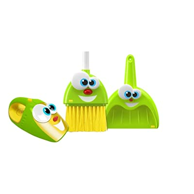 Kidz Delight Silly Sam Broom, Dustpan &Amp; Larry the Talking Vacuum Set: Toys & Games