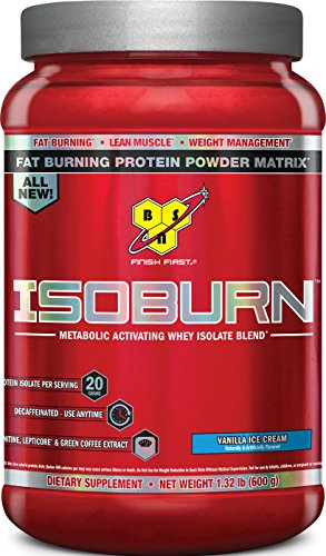 Lean Protein Powder (BSN ISOBURN Protein Powder - Vanilla ice cream 1.32 Pound)