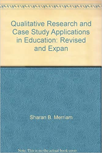 qualitative research and case study applications in education google books Chapter 1 a (very) brief refresher on the case study method 5 different research methods, including the case study method, can be determined by the kind of research question that a study is trying to address (eg, shavelson.