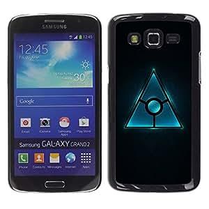 TECHCASE**Cubierta de la caja de protección la piel dura para el ** Samsung Galaxy Grand 2 SM-G7102 SM-G7105 ** Triangle Design