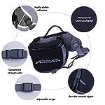 ThinkPet Outdoor Dog Backpack Reflective Saddle Bag - Dog Pack Double Bag for Hound Travel Rucksack for Medium Large Dogs 12