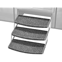 Prest-O-Fit 2-4109 Castle Gray 22 Wide Outrigger Radius XT RV Step Rug, 3 Pack, 3