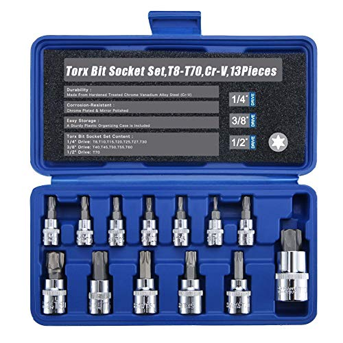 - Renekton Torx Star Bit Socket Set,1/2