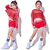 a1d4161db Moyuqi™ New Children's Jazz Dance Girls Costumes Red Net Suit Hip Hop  Modern Dance Stage