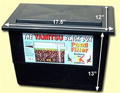 Kockney Koi Yamitsu Basic Black Box Pond Filter Fish Goldfish Koi Carp Pump Fed