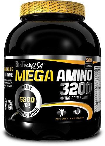 Mega Amino 3200 - 500 tablets - Biotech