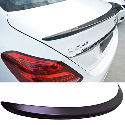 Trunk Spoiler Fits 2015-2018 Benz W205 C Class | AMG Style ABS Unpainted Black Rear Tail Lip Deck Boot Wing Other Color Available By IKON MOTORSPORTS | 2016 2017