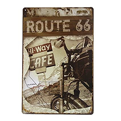 Amazon.com: DL-Hi-Way Cafe Route 66 shabby chic Motorcycle Vintage ...