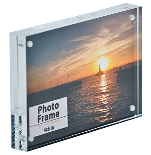 Tint Photo Postcard - Nicom Clear Acrylic Magnet Frame (1, 4x6)