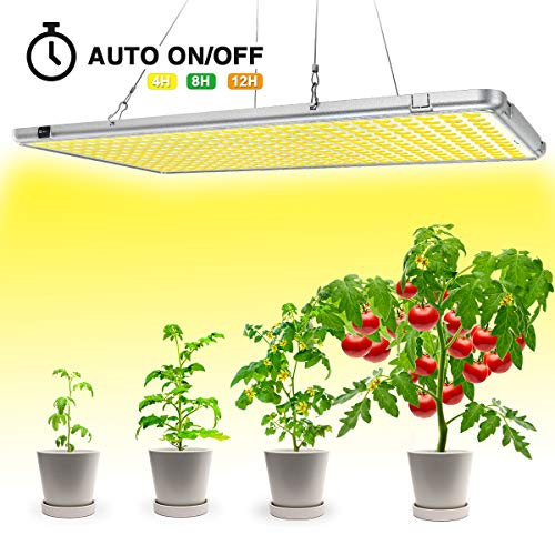 Bozily Led Grow Light 300W, Sunlike Full Spectrum Plant Light, 338 LEDs Oversized, Auto Timing Function for Indoor Plants Seedling,Growing,Blooming and ()