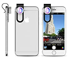 iPhone Camera Lens Attachment Kit - 2 in 1 - Wide Angle (0.65x) + Macro (10x) - great for iPad & Android Mobile Phone or Tablet Devices