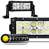 """ECCPP 7.5"""" 36W Off Road LED Work Light Bar Auxiliary Driving Lamp Flood Spot Combo Beam For 4x4-Jeep Cabin/UTE/SUV/ATV/Truck/Car/Boat/Fishing excavator/engineering vehicle/mining vehicle/beach car/fire truck/rescue vehicles/police car/Garden square/industrial plant"""