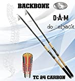 2 pcs. DAM Backbone TELE 40, 4.50m/14.76ft ; 10-40g/0,35-1,41oz – Telescopic Spinning rod Review