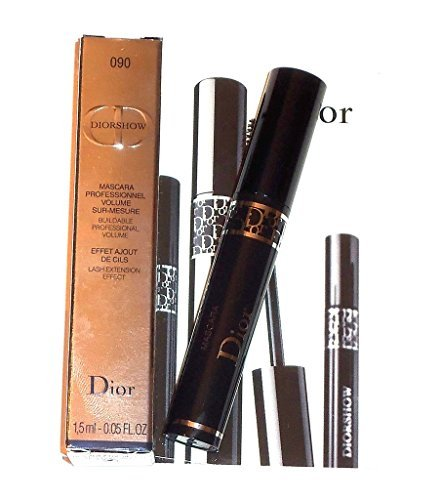 DIOR DIORSHOW PROFESSIONAL VOLUME MASCARA 090 PRO BLACK TRAVEL SIZE .05oz (Dior Mascara Mini)