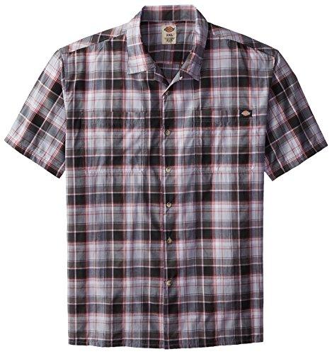 Dickies Men's Big Short Sleeve Camp Shirt, Executive Light Grey, 2X