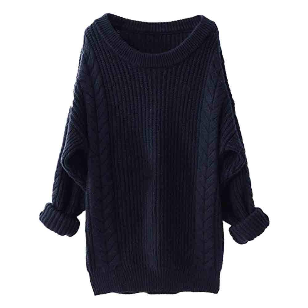 St.Dona Cashmere Sweater, Women's Crew Neck Long Sleeve Oversized Loose Knitted Winter Warm Wool Pullover Sweaters Women' s Crew Neck Long Sleeve Oversized Loose Knitted Winter Warm Wool Pullover Sweaters