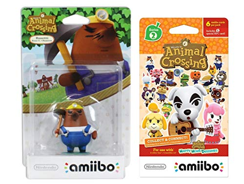 Mr Resetti Amiibo (Animal Crossing Series) for Nintendo Switch - WiiU, 3DS Bonus 1-Pack (6 Cards/Pack) (Bundle) (Mario And Sonic At The Olympic Games Characters)