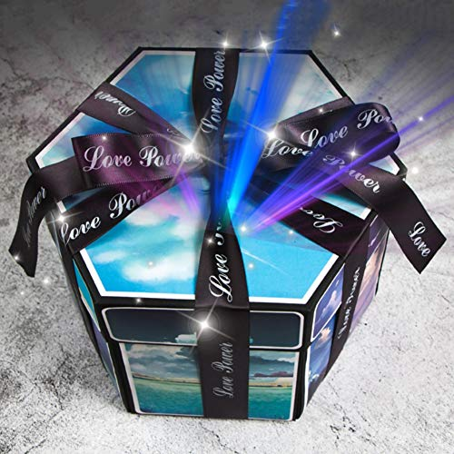 ARTIFUN Creative Explosion Gift Box,Love Memory Scrapbook DIY Photo Album Gift Box with DIY Accessories Kit, as Wedding Proposal Engagement Birthday Valentine's Day Anniversary Gifts ()