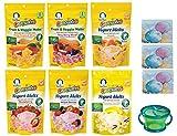 Gerber Graduates YOGURT MELTS - Variety Pack and Snack Catcher Cup; 4 Yogurt Melts and 2 Fruit and Veggie Melts. (Bundle of 6 Melts) Strawberry Peach Banana Vanilla Very Berry Yogurt