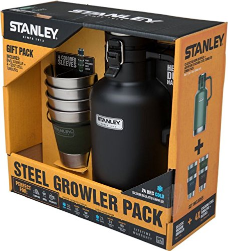 Stanley Classic Growler 2qt and Adventure Stacking Steel Tumblers Set-Matte 10-02116-016