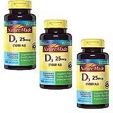 Nature Made D3, 1000 IU, Liquid Softgels, 100 ct (Pack of 3)