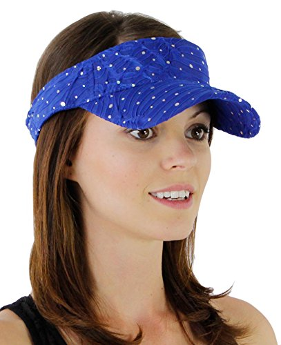Royal Visor - Glitter Sequin Visor for Ladies, Royal Blue