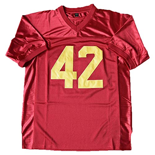 (AIFFEE Men's #42 Ricky Football Jersey Red Color Stitched Number and Letters Size S - 3XL (XL))