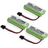 EBL 3 Pack 2.4V 900mAh Upgrade Capacity Cordless Phone Replacement Battery for Uniden BT-1008 BT1008 BT-1021 BT-1008S BT1008S BT-1016 BT1016 BBTG0645001 BBTG0734001 Lenmar CBBT1008 CB-BT1008