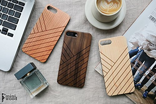 Louis Vuitton Cup Bags - Straight Line Pattern - Miniwood iPhone/ Samsung Case - Natural Real Wooden, Laser Engraving, Unique Case, Unique, Classy & Stylish Wood, Protective Bumper with Real All Wooden Cover