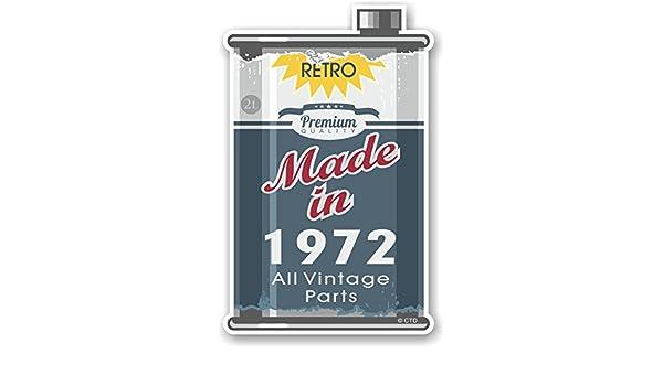 Retro fabricado en 1972 todas las piezas Vintage año de diseño de una antigua lata de metal lata de aceite diseño de la novedad vinilo adhesivo coche moto ...