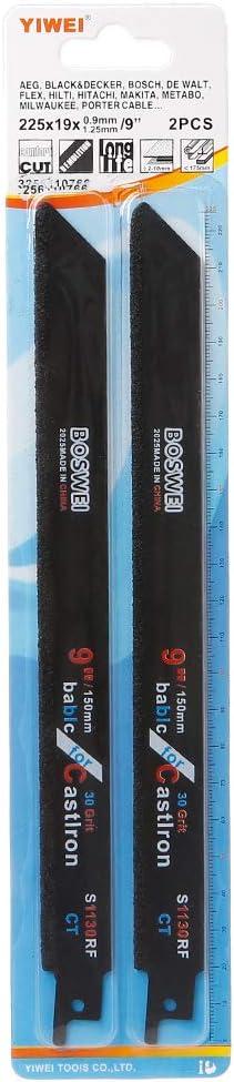 CADANIA 2Pieces 225mm 9in Carbide S/ägeblatt zum Schneiden von Keramik Gusseisen S1130RF