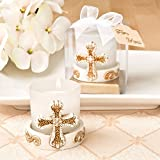 112 Vintage Cross Themed Candle Votives