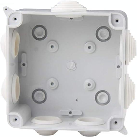 Aofocy Bo/îte de jonction de qualit/é sup/érieure ABS Blanc IP65 Bo/îte de jonction carr/ée pour bo/îtier /étanche 100x100x70mm