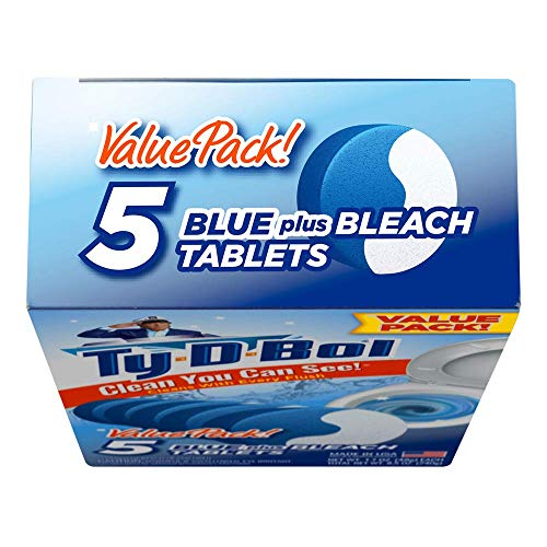 Ty-D-Bol Blue Plus Bleach Tablets Value 5 Pack, Cleans and Deodorizer Toilets for a Fresh Smelling Bathroom (Pack of 10) by Ty-D-Bol (Image #4)