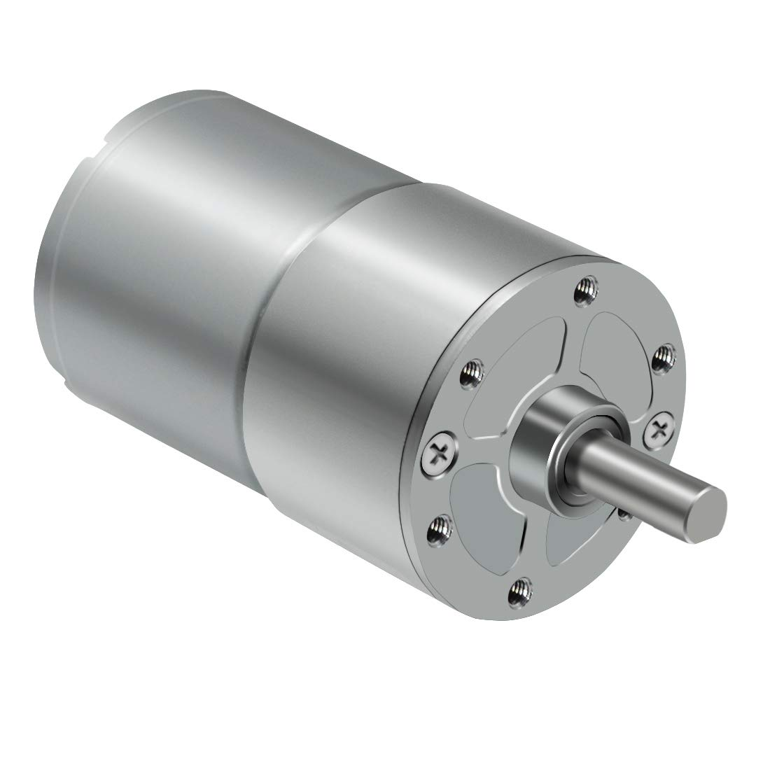 LMioEtool DC Electric Gear Motor, High Torque Reversible Mini Speed Reduction Geared Motor, with Metal Reducer Gearbox - Centric Output Shaft 37mm Diameter(12V/5RPM)