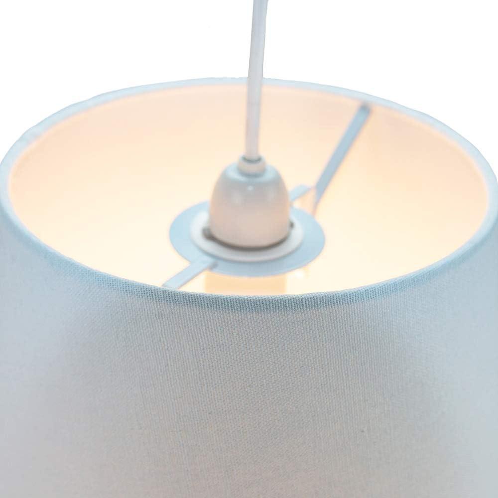 Klassischer 10 Zoll Creme Leinen Stofftrommel Tisch//H/ängeleuchte Schirm 60w Maximum von Happy Homewares