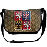 Lov6eoorheeb Unisex Coat Of Arms Of Czech Republic Wide Diagonal Shoulder Bag Adjustable Shoulder Tote Bag Single Shoulder Backpack For Work,School,Daily
