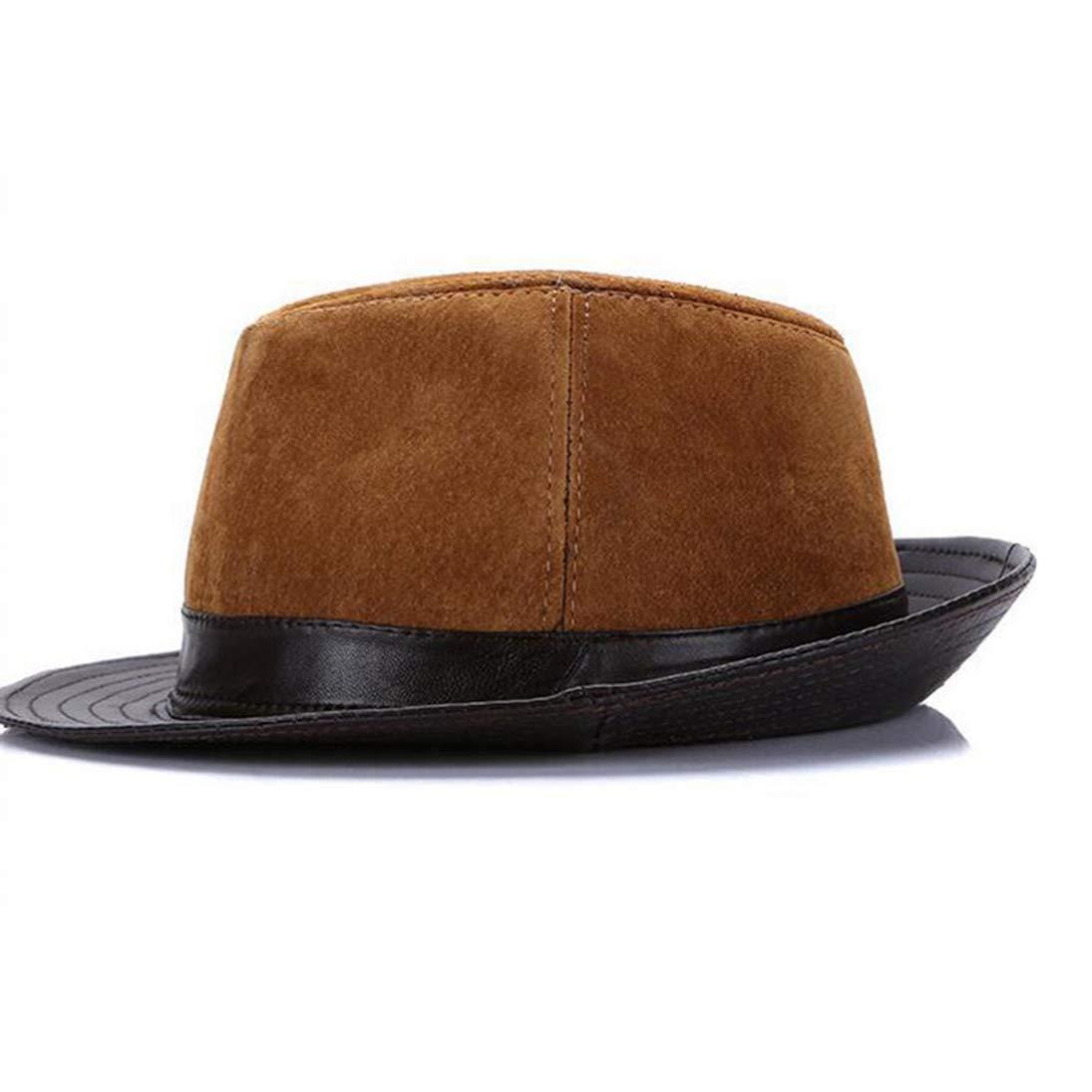 Classic Manhattan Fedora Hat Unisex Timelessly Vintage Wide Brim Leather Jazz Hat with Black Band