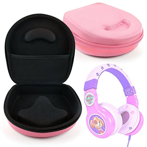 DURAGADGET Hard Shell EVA Pouch Case (Pink) - Compatible with Paw Patrol Skye Kid-Friendly Headphones