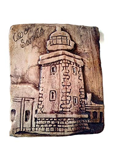 Ceramic Lighthouse Tile with Low Relief ()